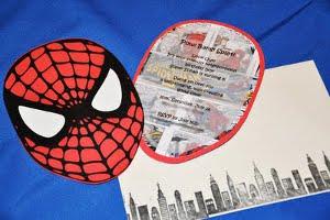 invitacion fiesta de cumpleaños hombre araña