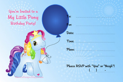 My Little Pony Personalized Birthday Invitations is perfect invitation design