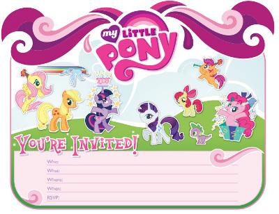 Resultado de imagen para Invitaciones de little pony para imprimir