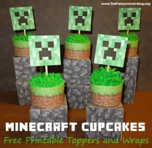 gratis para decorar tu Fiesta Minecraft es en CatchMyParty.com