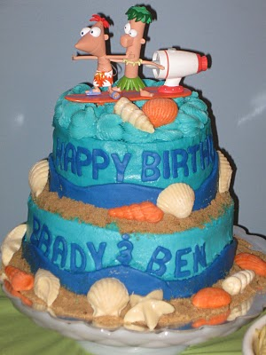 Torta Fiesta Phineas Y Ferb 3 JPG