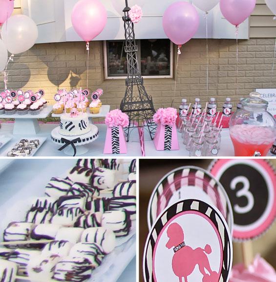 Fiesta poodle rosa - Decoracion fiesta rosa ...