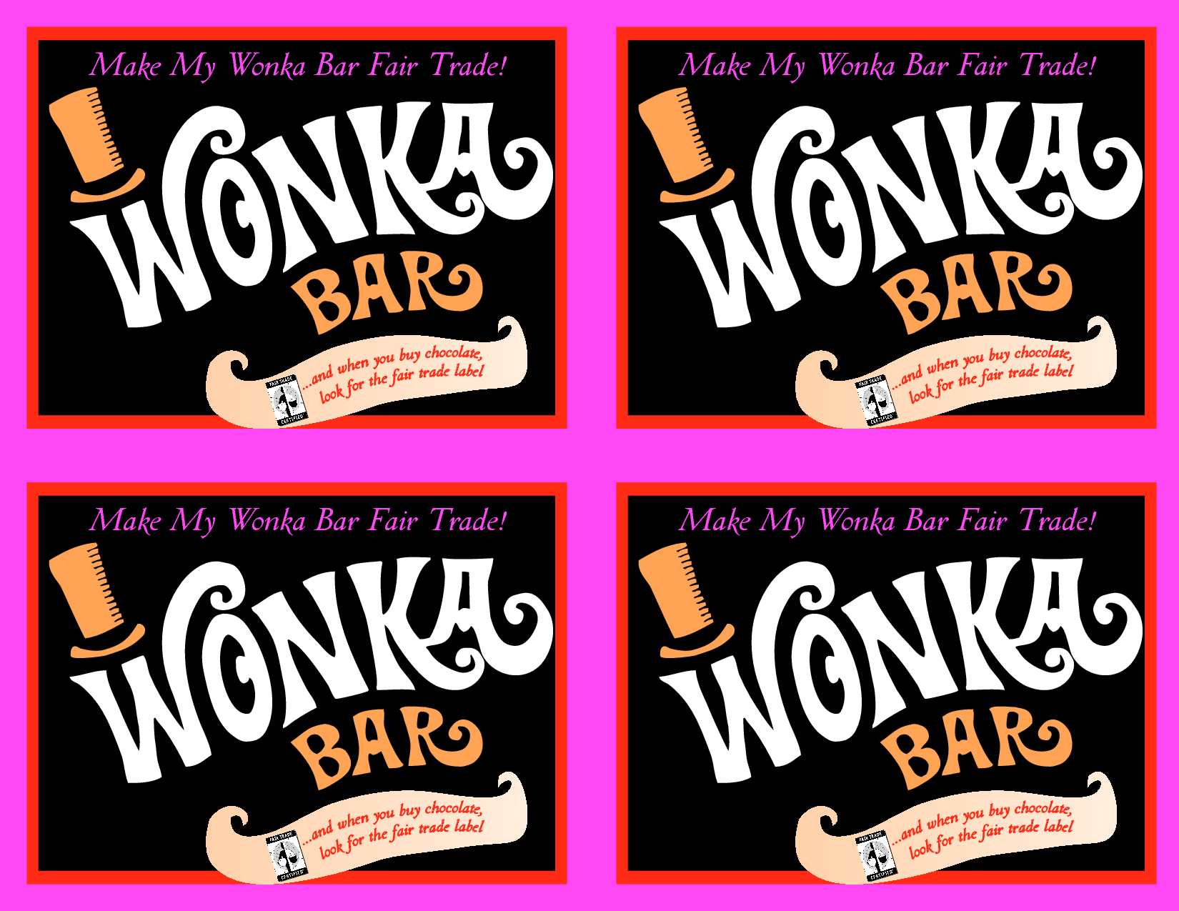 free willy wonka bar wrapper printables just b cause