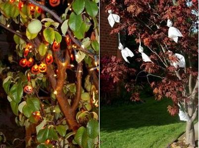 arboles de halloween en exteriores aire libre
