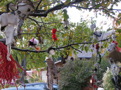 arbol de halloween para exteriores