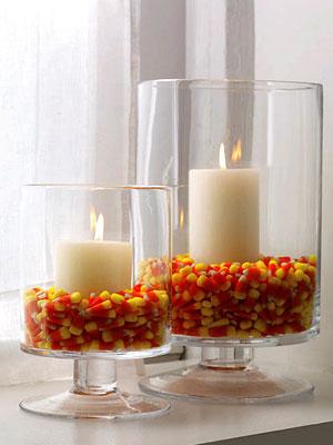 Centros de mesa de copas de halloween con golosinas for Centros de mesa para halloween