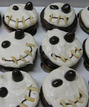 cupcakes de calavera para halloween.
