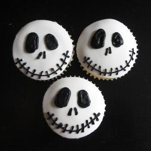 Cupcakes de calavera para halloween