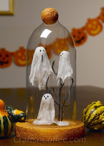 7 decoraciones de fantasmas de icopor para halloween for Decoracion de unas halloween