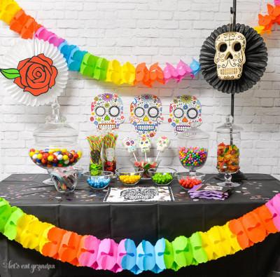 fiesta tematica de halloween dia de los muertos Mercadolibre