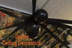 arañas de halloween hechas con globos