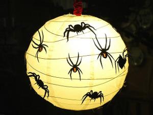 lampara de papel de halloween