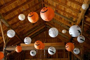 lamparas de papel de halloween