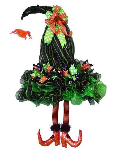 decoraciones con malla deco para halloween la caleñita