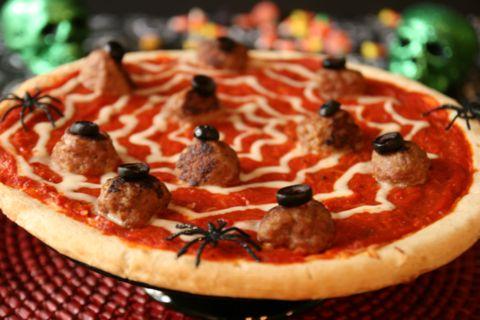pizza de telaraña