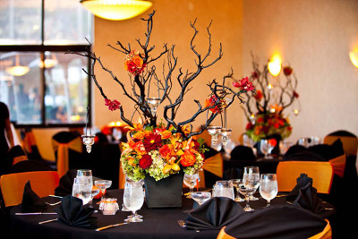 Centros de mesa de halloween con ramas de rboles - Arboles secos decorados ...
