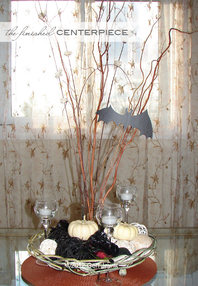 Centros de mesa de halloween con ramas de rboles - Ramas de arbol para decoracion ...