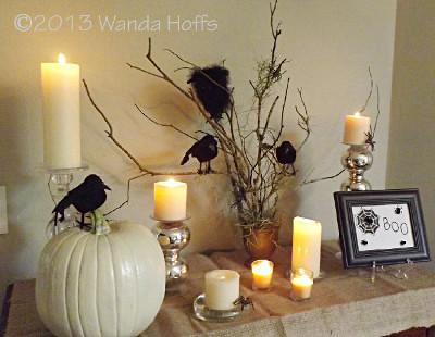 Centros de mesa de halloween con ramas de rboles - Decoracion con ramas de arboles ...