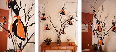 centros de mesa con ramas de arbol para halloween Mercadolibre