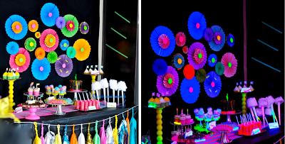 Decora tu fiesta de halloween con colores fluorescentes - Decoracion para halloween fiestas ...