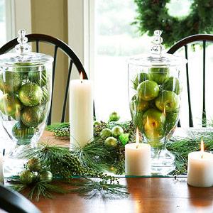 Adornos de navidad en recipientes de vidrio transparente - Decoracion jarrones de cristal ...