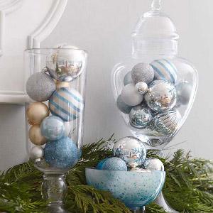 Adornos de navidad en recipientes de vidrio transparente - Adornos navidenos elegantes ...