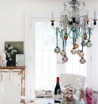 Bolas navidad en lamparas de ara a - Decorar bolas de navidad ...