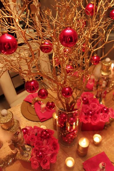 centros de mesa navide os con ramas de rbol