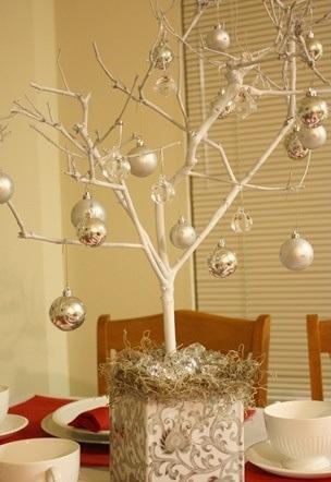 Centros de mesa navide os con ramas de rbol - Centro de mesa navideno manualidades ...