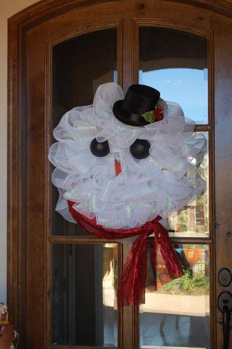Coronas De Navidad Con Malla Decorativa Lacelebracion Com