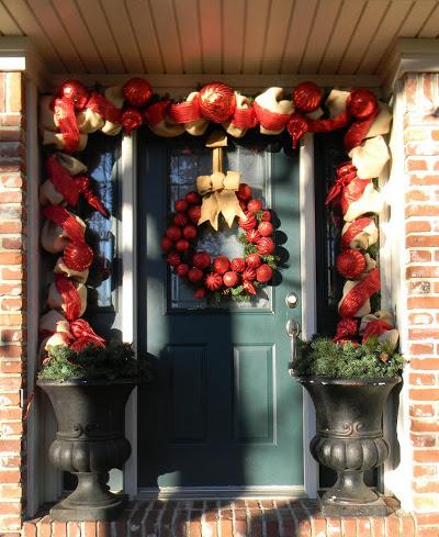 6 decoraciones con cinta de arpillera for Cintas de navidad