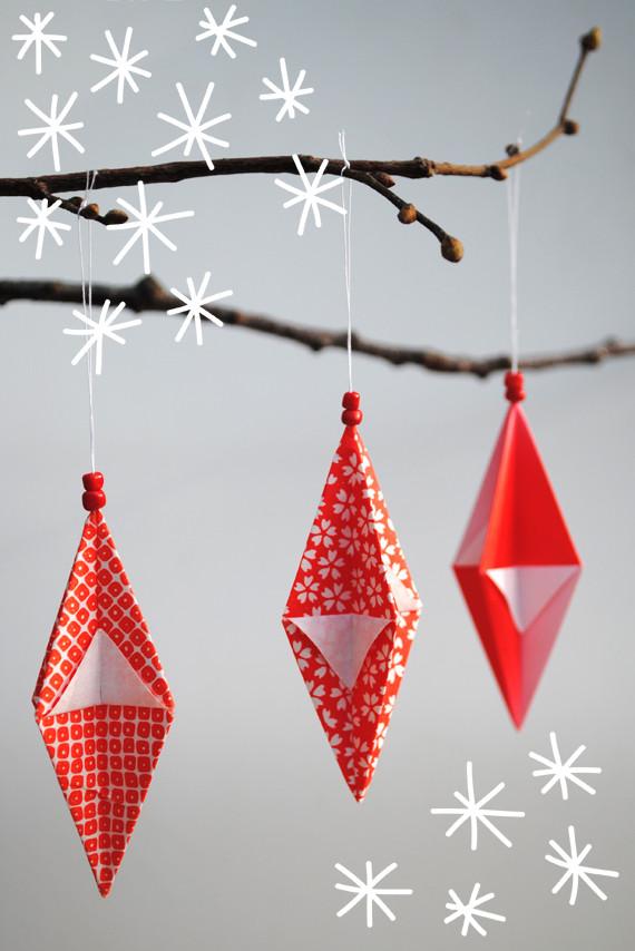 Decora con origami la navidad - Arbol de navidad de origami ...
