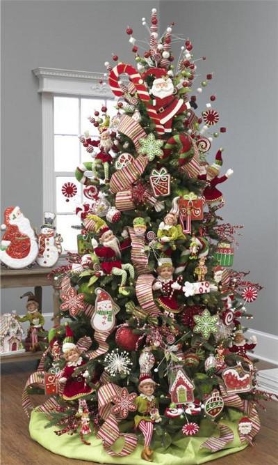 Santa Claus Themed Christmas Tree