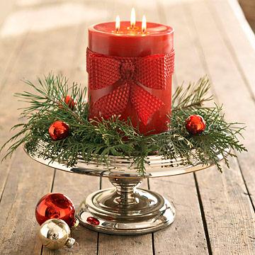 Tips para decorar con velas tus centros de mesa navide os - Centro de navidad con velas ...