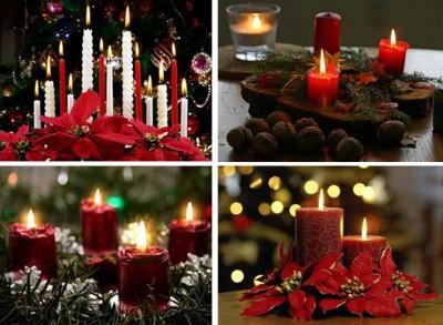 Tips para decorar con velas tus centros de mesa navide os - Centros de navidad con velas ...