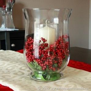 Tips para decorar con velas tus centros de mesa navide os - Arreglos navidenos para mesa ...