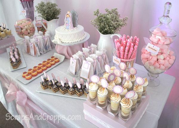 C mo decorar una fiesta de primera comuni n - Como decorar una mesa de comunion ...
