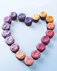 cupcakes de amor y amistad