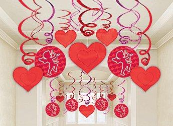 decoracion de amor y amistad rojo y purpura