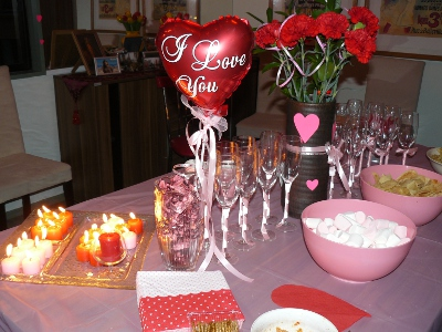 centro de mesa de amor y amistad