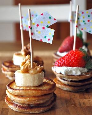 aperitivos de pancakes para fiestas y eventos
