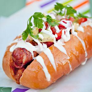 barra de perros calientes barra de hot dog