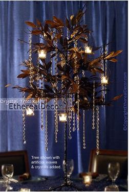 Cadenas de cuentas en acrilico con velas