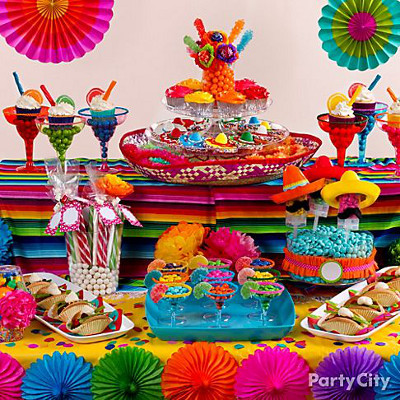Candy buffet ideas 50s theme party party city - Centros De Mesa Para Fiestas Archivos Lacelebracion Com
