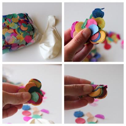 Decora tu fiesta con globos transparentes rellenos de for Como hacer confeti