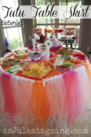 decoracion de mesas con faldas de tutu Mercadolibre