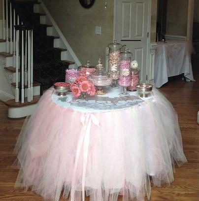 decora tus mesas con faldas de tut