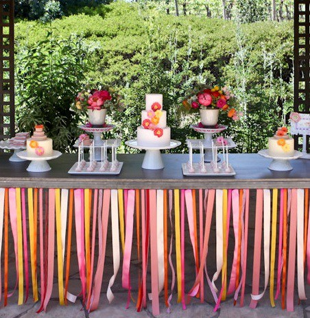 mesas decoradas de cintas