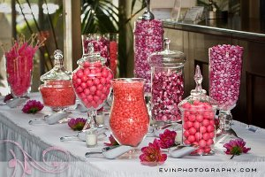 El color hace la diferencia - en general, un buffet de dulces con