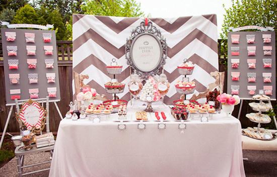 Decora tu mesa dulce con rayas chevr n for Como decorar mesa de postres para baby shower